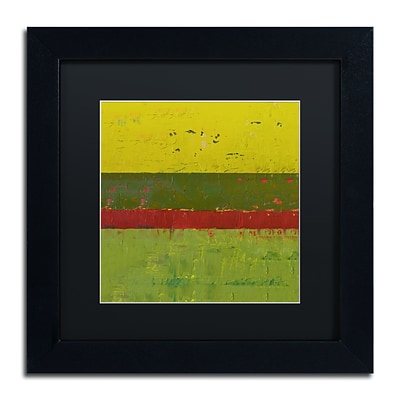 Trademark Fine Art Michelle Calkins Yellow Sky 11 x 11 Matted Framed (190836101061)
