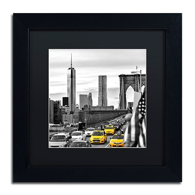 Trademark Fine Art Philippe Hugonnard Taxis in New York 11 x 11 Matted Framed (190836121168)