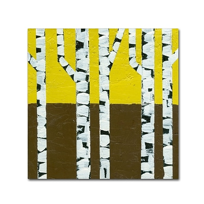 Trademark Fine Art Michelle Calkins Seasonal Birches - Fall 18 x 18 Canvas Stretched (190836102396)