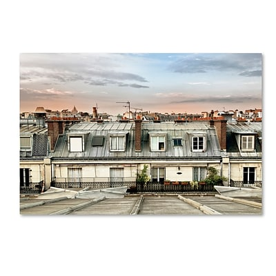 Trademark Fine Art Philippe Hugonnard Paris Rooftops 12 x 19 Canvas Stretched (190836117208)