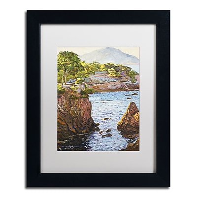 Trademark Fine Art David Lloyd Glover Riviera Sea Cove 11 x 14 Matted Framed (190836187546)