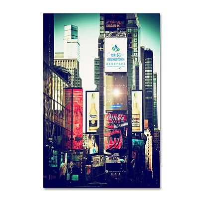 Trademark Fine Art Philippe Hugonnard Times Square 12 x 19 Canvas Stretched (190836055012)