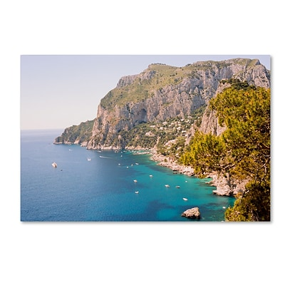 Trademark Fine Art Ariane Moshayedi Capri Vista 12 x 19 Canvas Stretched (190836265961)