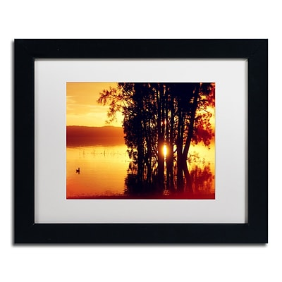 Trademark Fine Art Beata Czyzowska Young Lonely at Sunset 11 x 14 Matted Framed (190836184040)