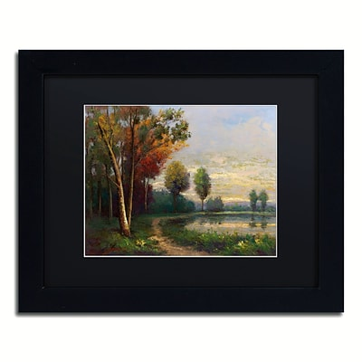 Trademark Fine Art Daniel Moises Landscape with a Lake 11 x 14 Matted Framed (190836189922)
