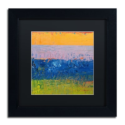 Trademark Fine Art Michelle Calkins Thistle Field 11 x 11 Matted Framed (190836100743)