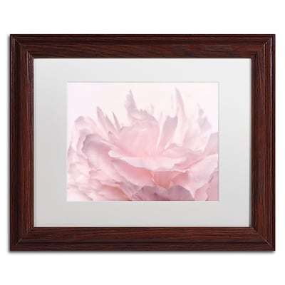 Trademark Fine Art Cora Niele Pink Peony Petals III 11 x 14 Matted Framed (190836307661)