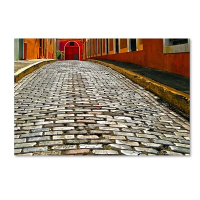 Trademark Fine Art CATeyes Old San Juan 14 12 x 19 Canvas Stretched (190836040216)