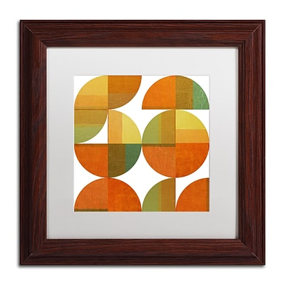 Trademark Fine Art Michelle Calkins Four Suns Quartered 2.0 11 x 11 Matted Framed (190836073207)