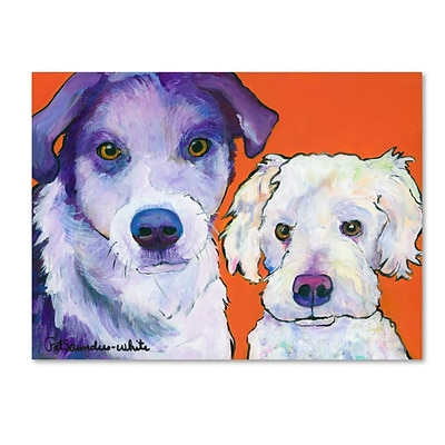 Trademark Fine Art Pat Saunders-White Milo and Max 14 x 19 Canvas Stretched (190836061471)