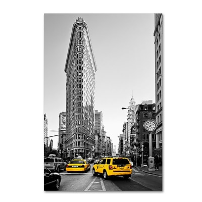 Trademark Fine Art Philippe Hugonnard Flatiron Building NYC 12 x 19 Canvas Stretched (190836046737)