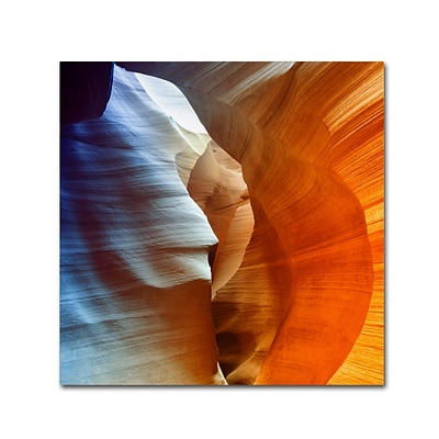 Trademark Fine Art Philippe Hugonnard Antelope Canyon 14 x 14 Canvas Stretched (190836100149)