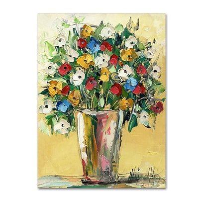 Trademark Fine Art Hai Odelia Spring Flowers in a Vase 9 14 x 19 Canvas Stretched (190836068760)