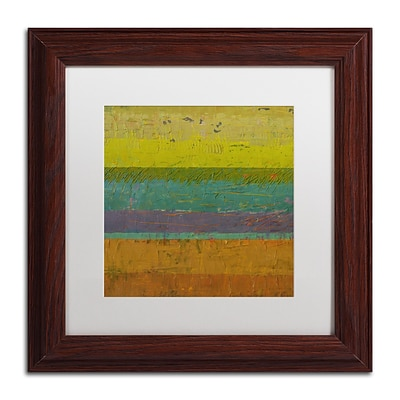 Trademark Fine Art Michelle Calkins Chartreuse Line 11 x 11 Matted Framed (190836070961)