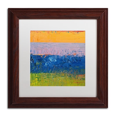 Trademark Fine Art Michelle Calkins Thistle Field 11 x 11 Matted Framed (190836100880)