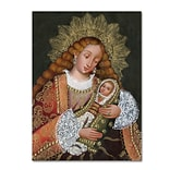 Trademark Fine Art Sergio Cruze The Virgin and Son IV 14 x 19 Canvas Stretched (190836012688)