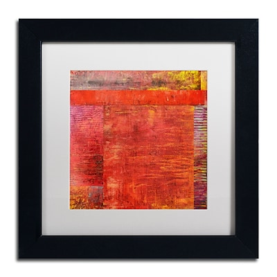 Trademark Fine Art Michelle Calkins Essence of Red 2 11 x 11 Matted Framed (190836071951)