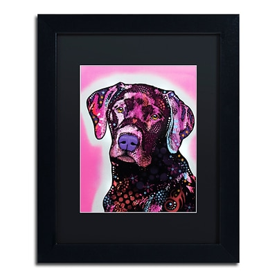 Trademark Fine Art Dean Russo Black Lab 11 x 14 Matted Framed (190836149735)