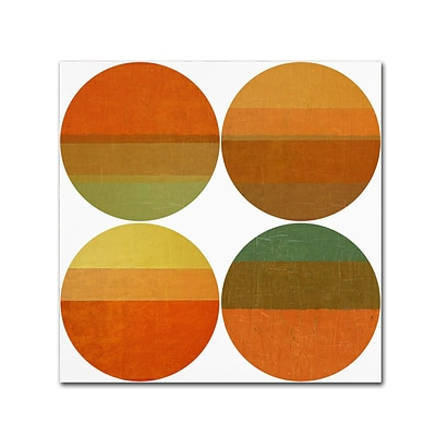Trademark Fine Art Michelle Calkins Four Suns 14 x 14 Canvas Stretched (190836072781)