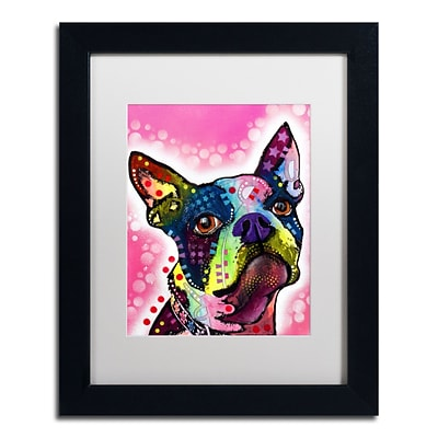Trademark Fine Art Dean Russo Boston Terrier 11 x 14 Matted Framed (190836149599)
