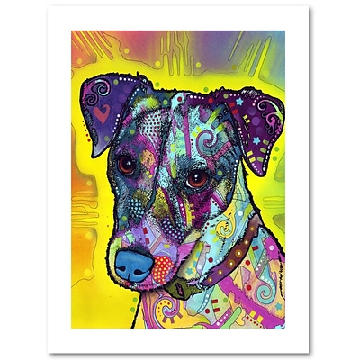 Trademark Fine Art Dean Russo Jack Russell 18 x 24 Paper Rolled (190836148370)