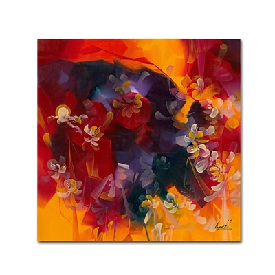 Trademark Fine Art Andrea Hot Nights 14 x 14 Canvas Stretched (190836010646)