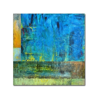 Trademark Fine Art Michelle Calkins Essence of Blue 2 18 x 18 Canvas Stretched (190836071838)