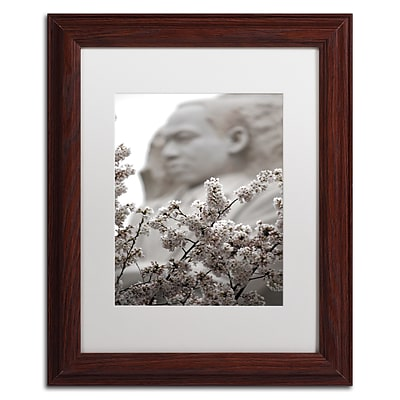 Trademark Fine Art CATeyes MLK Blossoms 11 x 14 Matted Framed (190836099016)