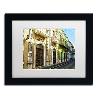 Trademark Fine Art CATeyes Old San Juan 8 11 x 14 Matted Framed (190836039104)