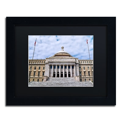 Trademark Fine Art CATeyes Capitol of Puerto Rico 11 x 14 Matted Framed (190836033515)