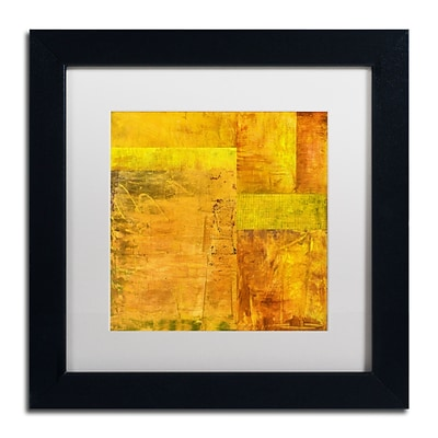 Trademark Fine Art Michelle Calkins Essence of Yellow 2 11 x 11 Matted Framed (190836072118)