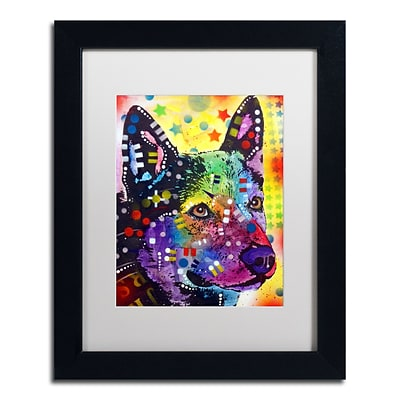 Trademark Fine Art Dean Russo Aus Cattle Dog 11 x 14 Matted Framed (190836165797)