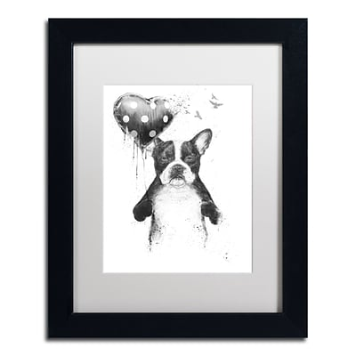 Trademark Fine Art Balazs Solti My Heart Goes Boom 11 x 14 Matted Framed (190836179367)