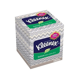 Kleenex Boutique Lotion Facial Tissue, 3-Ply, 75 Sheets/Box (25829)