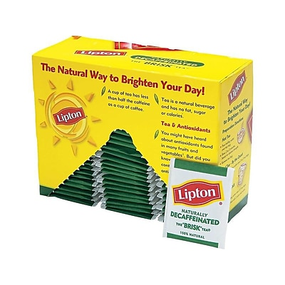 Lipton Decaf Black Tea Bags, 72/Box (TJL00290)