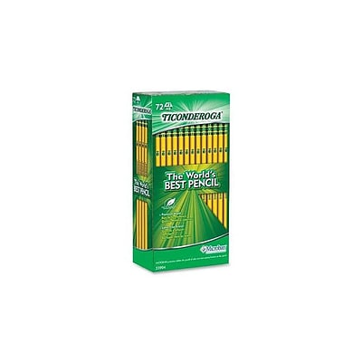 Ticonderoga The Worlds Best Pencil Wooden Pencils, No. 2 Soft Lead, 72/Pack (33904)