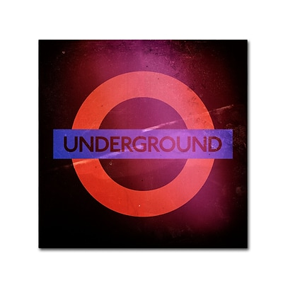 Trademark Fine Art Philippe Hugonnard Subway City Art London 18 x 18 Canvas Stretched (886511952607)