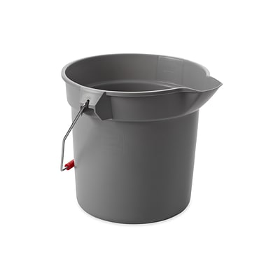 Rubbermaid Brute Bucket, 10 Qt., Gray (FG296300GRAY)