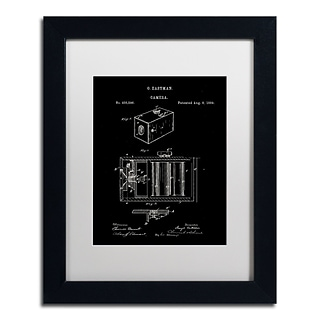Trademark Fine Art Claire Doherty George Eastman Camera Patent Black 11 x 14 Matted Framed (8865
