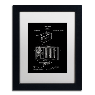 Trademark Fine Art Claire Doherty George Eastman Camera Patent Black 11 x 14 Matted Framed (886511939318)