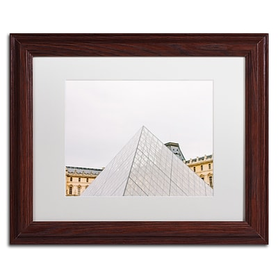 Trademark Fine Art Ariane Moshayedi The Louvre 11 x 14 Matted Framed (190836275441)