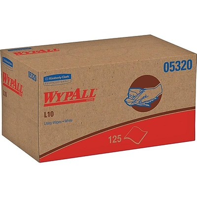 WypAll L10 Paper Wipers, White, 125/Box (05320)