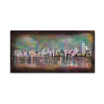 Trademark Fine Art Ellicia Amando Boston 10 x 19 Canvas Stretched (190836278466)