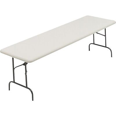 ICEBERG IndestrucTable TOO 600S Folding Table, 96 x 30, Platinum (65333)