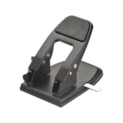OfficeMate 2-Hole Punch, 50 Sheet Capacity, Black (90082)