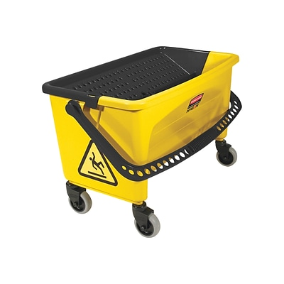 Rubbermaid HYGEN Bucket & Down-Press Wringer, Yellow (FGQ90088YEL)