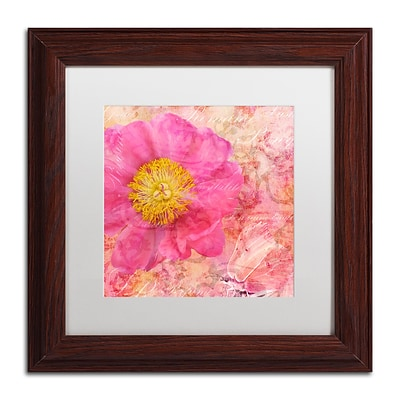 Trademark Fine Art Cora Niele Peony - Feminine Beauty 11 x 11 Matted Framed (190836312566)