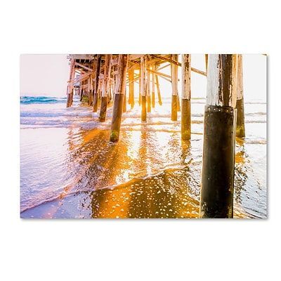 Trademark Fine Art Ariane Moshayedi Newport Pier Sunset 12 x 19 Canvas Stretched (190836271146)