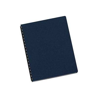 Fellowes Futura Presentation Covers Oversize Presentation Covers, 8.75W x 11.25H, Navy, 25 Pack (5224801)