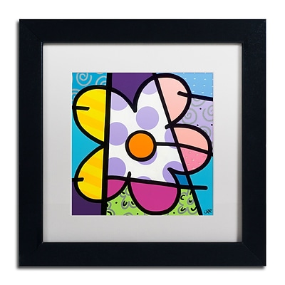Trademark Fine Art Roberto Rafael Big Flower I 11 x 11 Matted Framed (190836279555)